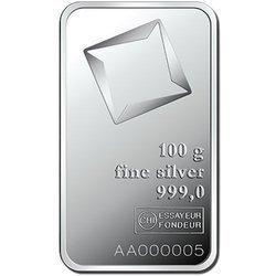 Sztaba srebra LBMA 100 g