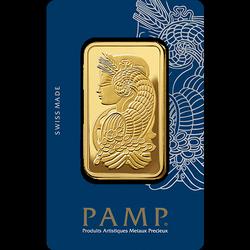 Sztaba złota PAMP 100 g